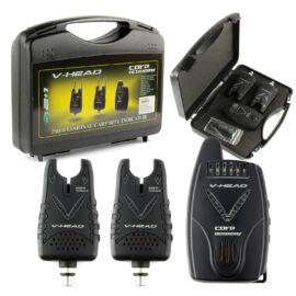 CARP ACADEMY V-Head Elektromos kapásjelző szett 2+1