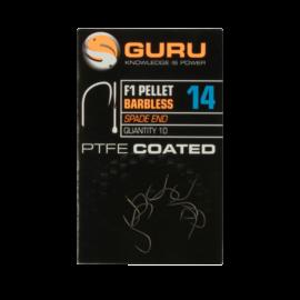 GURU F1 Pellet Barbless szakáll nélküli horog 14-es