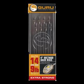 "GURU 4"" Method Hair Rigs 10 cm/12-es MWG előkötött horog"