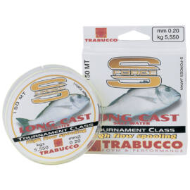 TRABUCCO S-FORCE LONG CAST Távdobó monofil zsinór 300m/0,22