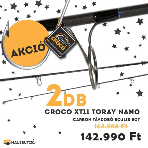 CROCO XT11 Toray Nano Carbon Távdobó Bojlisbot PÁROS AJÁNLAT!