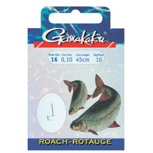 GAMAKATSU Roach előkötött horog 10/cs 18#/0.10