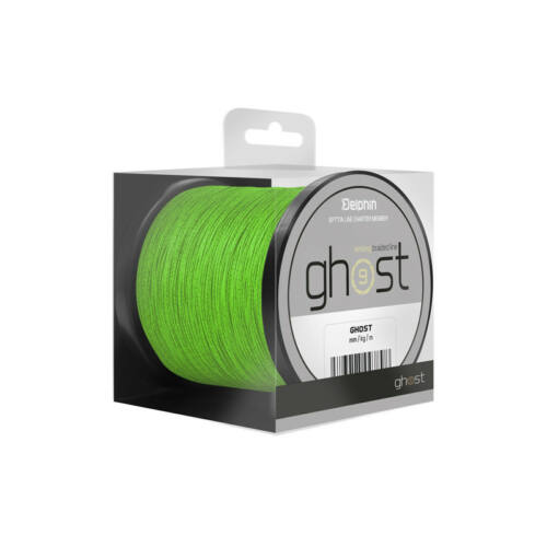 DELPHIN GHOST 8+1/zöld 0,18mm 20lbs 200m Süllyedő,pontyozó főzsinór