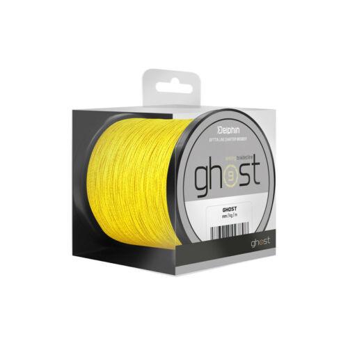 DELPHIN GHOST 8+1/sárga 0,23mm 30lbs 200m Süllyedő,pontyozó főzsinór