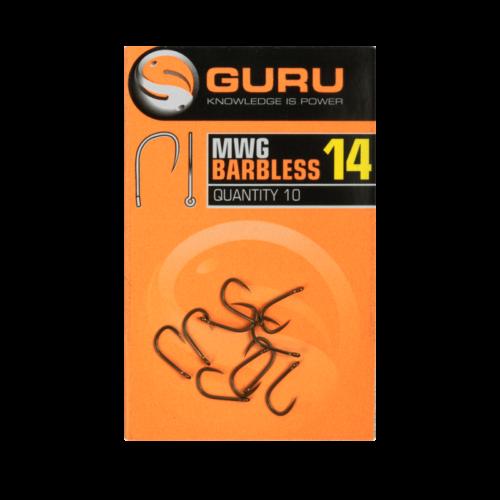 GURU MWG Barbless szakáll nélküli horog 18-as