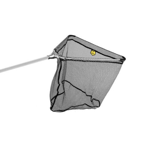 DELPHIN Merítőhalló fém fejcsatlakozással, gumírozott hálloval 60x60/170cm