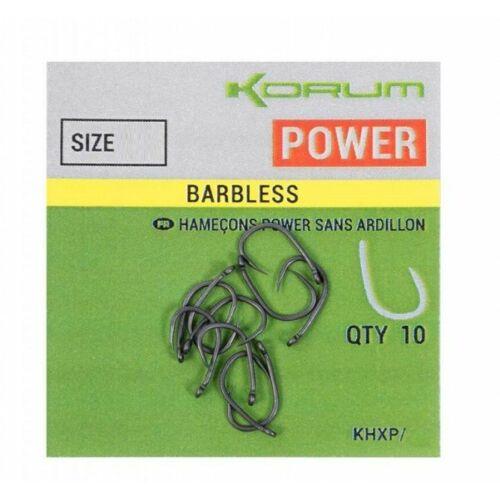 KORUM XPERT POWER Barbless horog 6-os