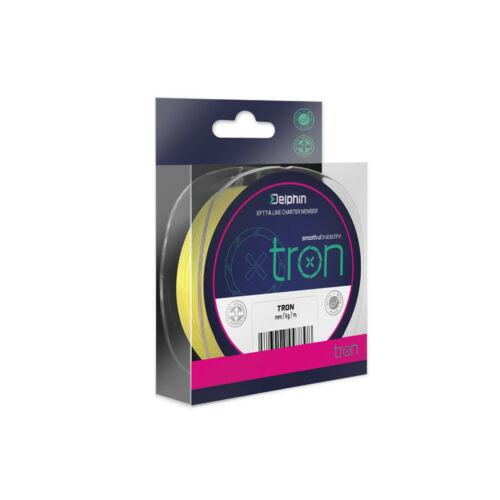 DELPHIN TRON Fluo Sárga Fonott Zsinór 0,05mm/5Lbs/130m